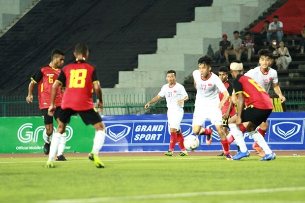 Vietnam aplasta a Timor Leste y se clasifica a las semifinales de campeonato sub-22 hinh anh 1
