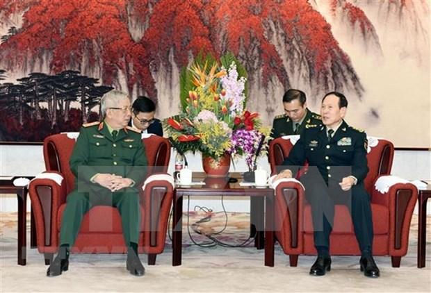 Promueven intercambios militares de alto nivel entre Vietnam y China hinh anh 1