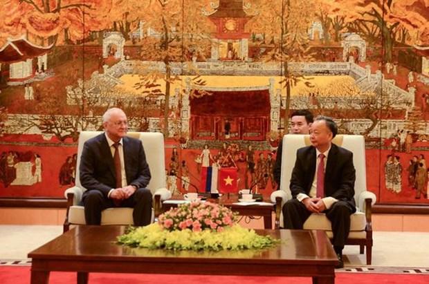 Reciben autoridades de Hanoi a vicepresidente de la Direccion Anticorrupcion de Rusia hinh anh 1