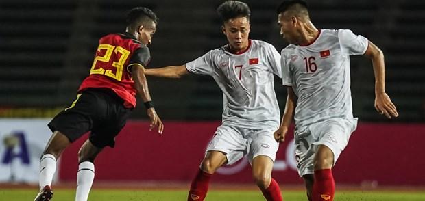 Resaltan victoria de Vietnam contra Timor Leste en campeonato regional hinh anh 1