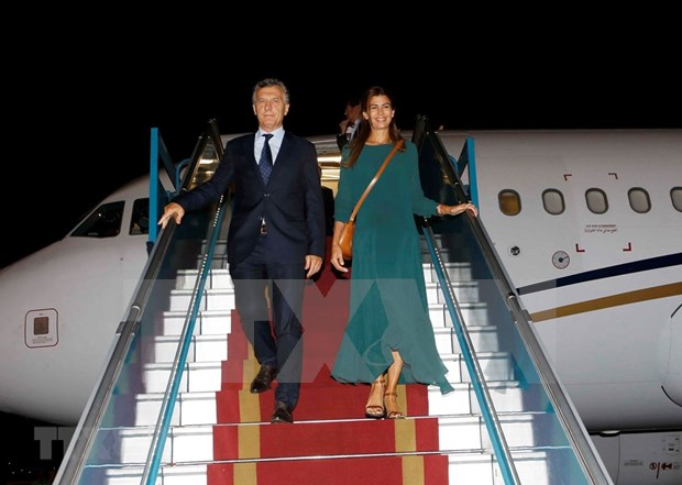 Presidente de Argentina inicia visita a Vietnam hinh anh 1