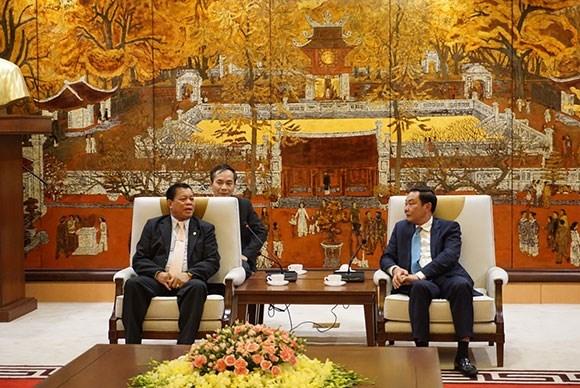 Destacan cooperacion eficaz entre las policias de Hanoi y Vientiane hinh anh 1