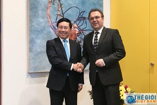 Resalta vicepremier de Vietnam importancia de los nexos entre su pais y Alemania hinh anh 1
