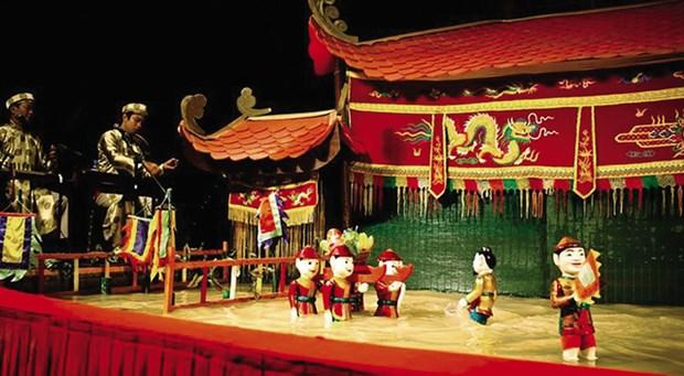 Espectaculo de marionetas acuaticas, arte escenica tradicional vietnamita hinh anh 1