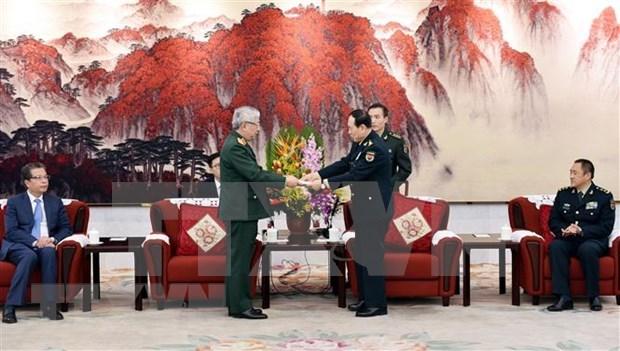 Fortalecen Vietnam y China la cooperacion en defensa hinh anh 1