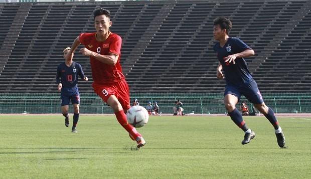 Equipo sub22 de futbol de Vietnam entra en semifinales del campeonato regional hinh anh 1
