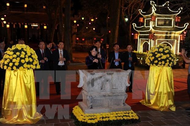 Inauguran en Vietnam fiesta primaveral de Con Son- Kiep Bac 2019 hinh anh 1