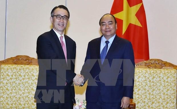 Reitera primer ministro de Vietnam apoyo a cooperacion entre bancos nacionales y extranjeros hinh anh 1