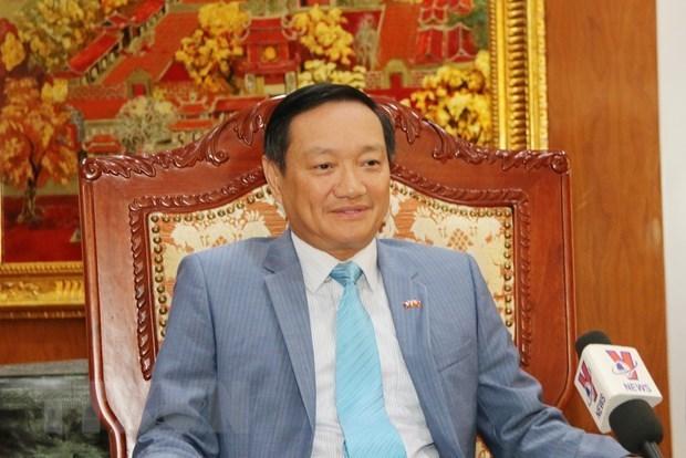 Embajador vietnamita resalta significado de la visita del maximo dirigente del pais a Laos hinh anh 1