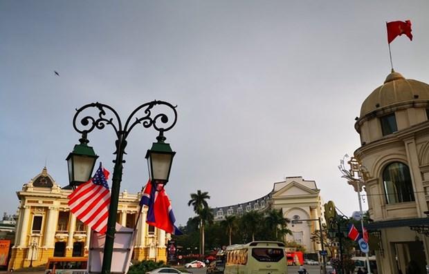 Hanoi se embellece para recibir a la segunda Cumbre EE.UU.- Corea del Norte hinh anh 1