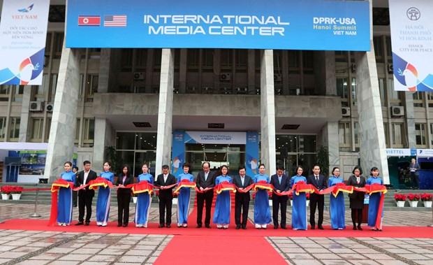 Inauguran en Vietnam Centro Internacional de Prensa para la segunda Cumbre EE.UU.- Corea del Norte hinh anh 1