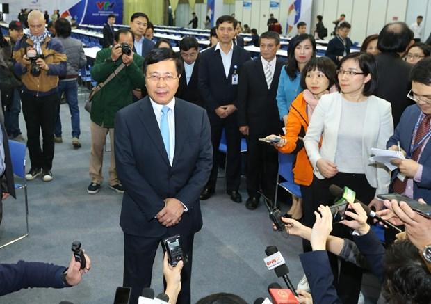 Inauguran en Vietnam Centro Internacional de Prensa para la segunda Cumbre EE.UU.- Corea del Norte hinh anh 2