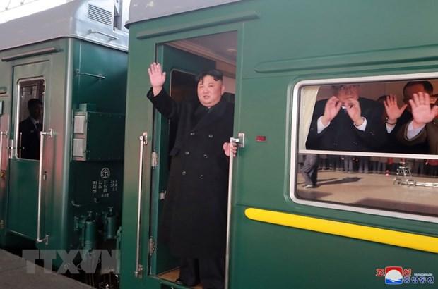 Tren del presidente norcoreano Kim Jong-un llega a China, medios internacionales hinh anh 1