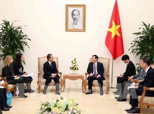 Recibe vicepremier vietnamita al presidente de la empresa AEON hinh anh 1