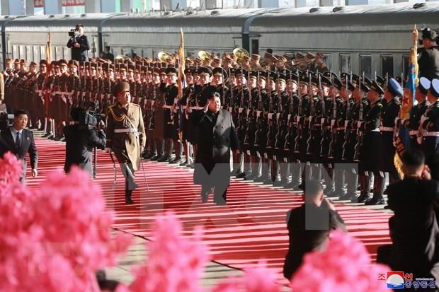 Resalta prensa norcoreana visita de Kim Jong-un a Vietnam para Cumbre EE.UU.-RPDC hinh anh 1