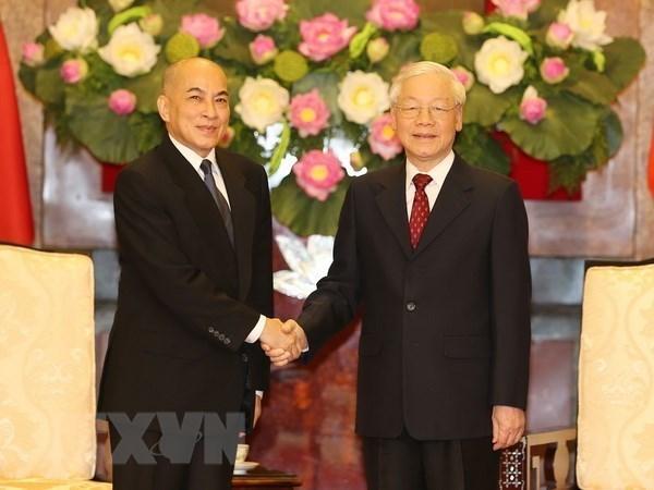 Visita a Camboya del maximo dirigente vietnamita ayudara a construir nueva vision para nexos bilaterales hinh anh 1