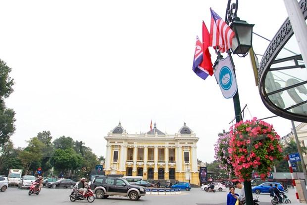 Emitiran en Vietnam coleccion de estampillas en ocasion de segunda Cumbre EE.UU.-RPDC hinh anh 1