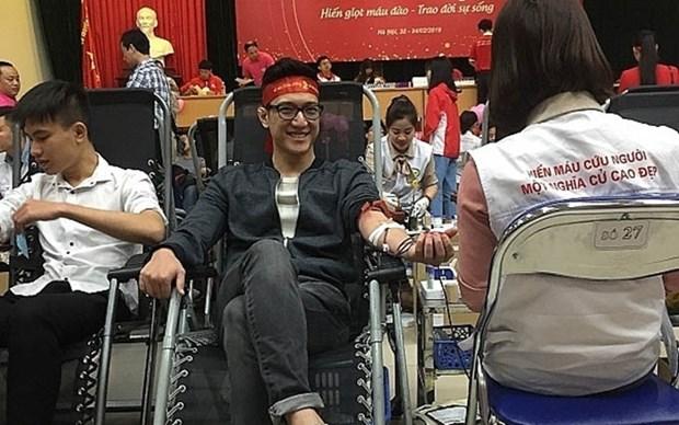 Duplican en Vietnam donaciones de sangre durante Festival Primavera Roja de Hanoi hinh anh 1