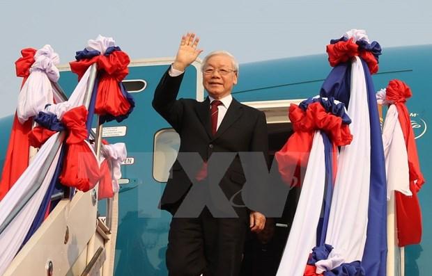 Destaca prensa tailandesa gira del maximo dirigente vietnamita por Laos y Camboya hinh anh 1