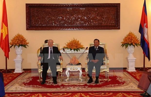 Maximo dirigente vietnamita reitera prioridad a nexos con Camboya hinh anh 1
