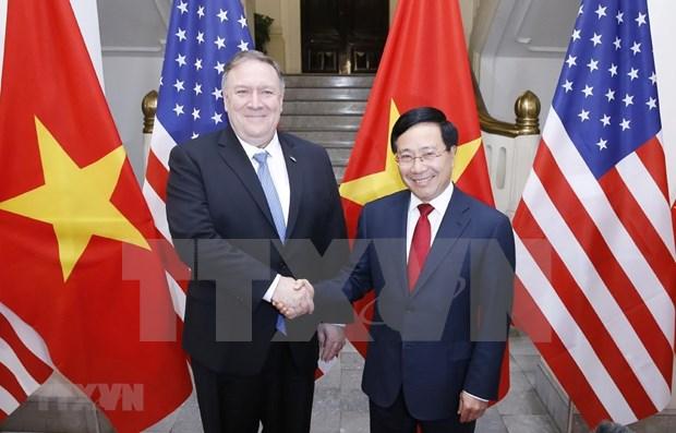 Estados Unidos atesora asociacion integral con Vietnam, afirma Mike Pompeo hinh anh 1