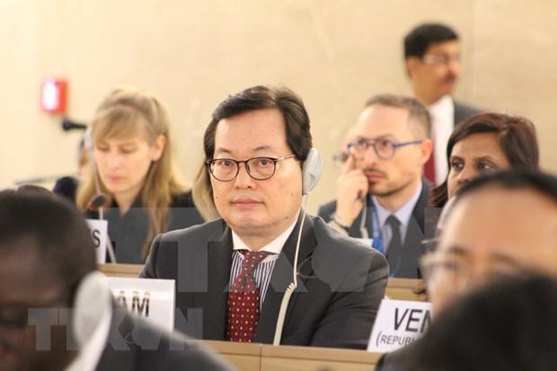 Participa Vietnam en el 40 periodo de sesiones del Consejo de Derechos Humanos de la ONU hinh anh 1