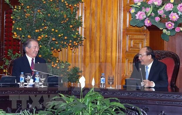 Premier vietnamita recibe al presidente de Comision de Cooperacion Economica Japon-Mekong hinh anh 1