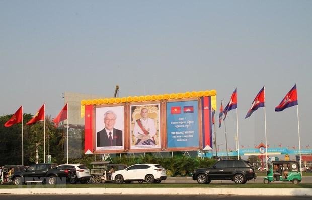 Maximo dirigente de Vietnam concluye su visita a Laos y Camboya hinh anh 1