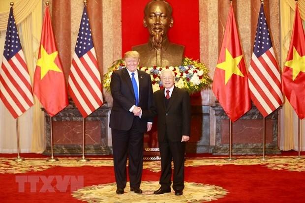 Maximo dirigente politico de Vietnam se reune con presidente estadounidense Donald Trump hinh anh 1