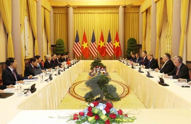 Sostiene maximo dirigente politico de Vietnam conversaciones con presidente estadounidense Donald Trump hinh anh 1