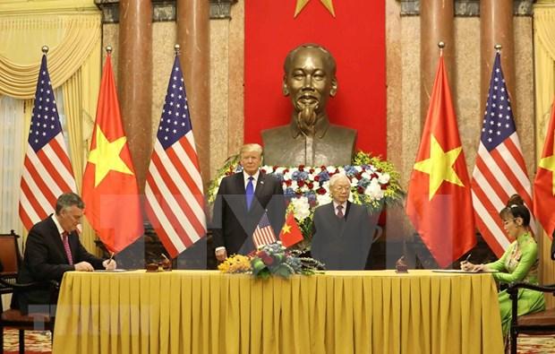 Firman acuerdos multimillonarios aerolineas vietnamitas y companias estadounidenses hinh anh 1