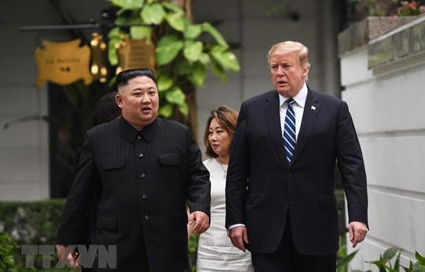 Comienza en Hanoi encuentro bilateral ampliado entre Donald Trump y Kim Jong-un hinh anh 1