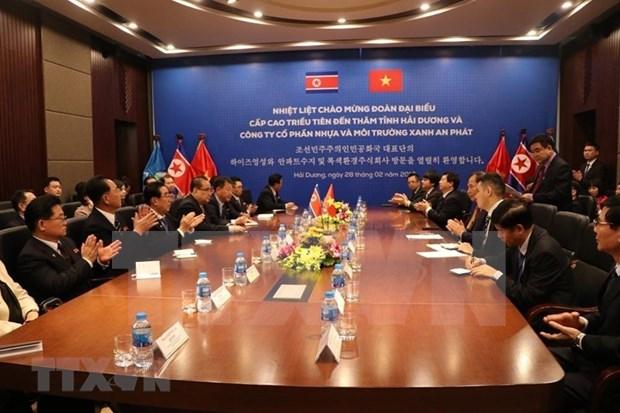 Cumple delegacion partidista de Corea del Norte intensa agenda durante visita a Vietnam hinh anh 3
