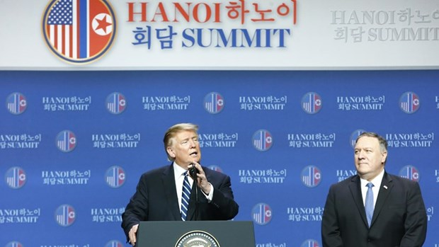Finaliza Trump conferencia de prensa sobre Cumbre EE.UU.-RPDC en Hanoi hinh anh 1