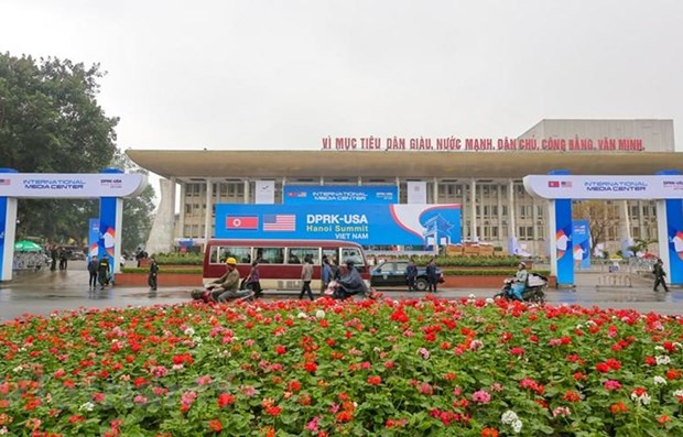 Resalta prensa internacional optimas condiciones tecnicas de Cumbre EE.UU.-RPDC en Vietnam hinh anh 1