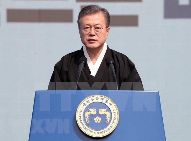Elogia presidente surcoreano avance significativo en Cumbre EE.UU.-RPDC hinh anh 1