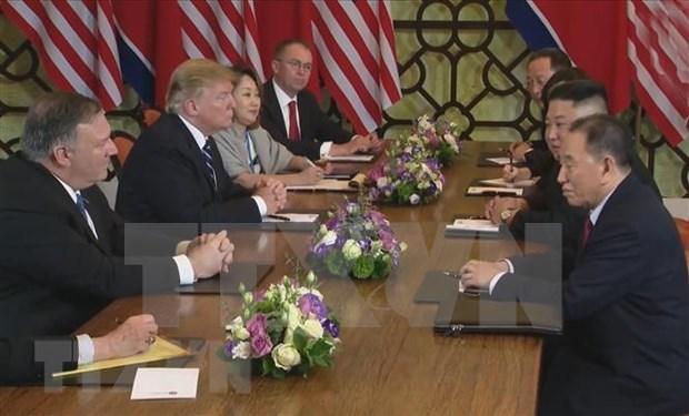 Revela EE.UU. detalles del debate con Corea del Norte sobre sanciones en Cumbre de Hanoi hinh anh 1