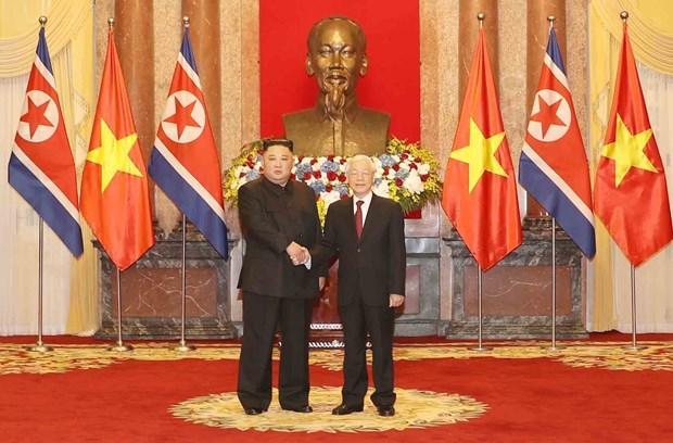 Ratifica presidente norcoreano deseo de fortalecer relaciones con Vietnam hinh anh 1