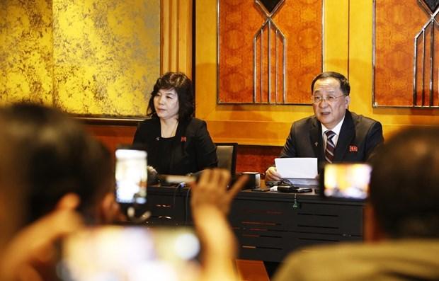 Corea del Norte ofrece conferencia de prensa sobre resultado de Cumbre hinh anh 1