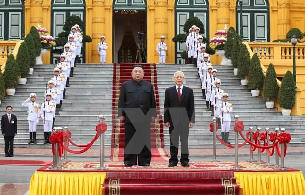 Visita a Vietnam del lider norcoreano atrae atencion de prensa japonesa hinh anh 1