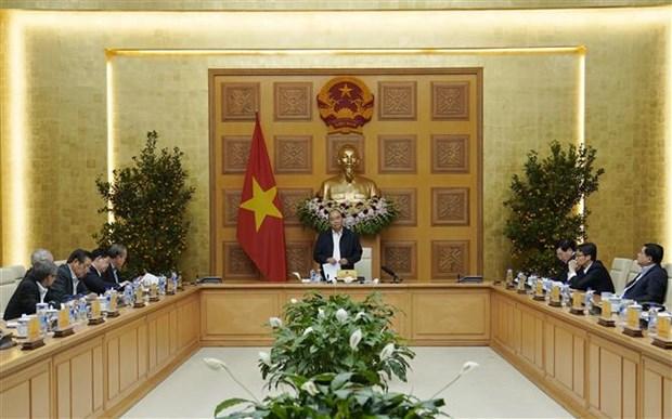 Premier preside reunion del Subcomite economico y social en preparacion para proximo congreso del Partido hinh anh 1
