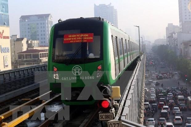Proponen en Vietnam tarifa subsidiada para boletos de nuevo tren elevado de Hanoi hinh anh 1