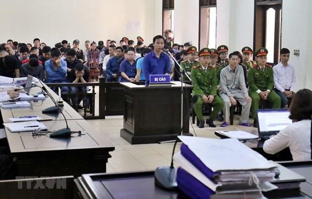 Abren en Hanoi juicio de apelacion sobre la mayor red de apuestas ilegales en Vietnam hinh anh 1