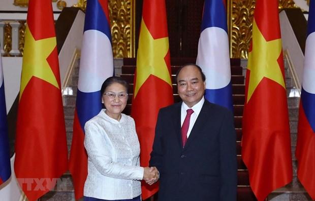 Recibe premier vietnamita a presidenta de Asamblea Nacional de Laos hinh anh 1