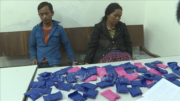 Capturan en Vietnam narcotraficantes laosianos e incautan 12 mil pastillas de droga hinh anh 1