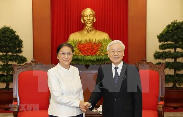 Maximo dirigente politico vietnamita propone mayor cooperacion legislativa con Laos hinh anh 1
