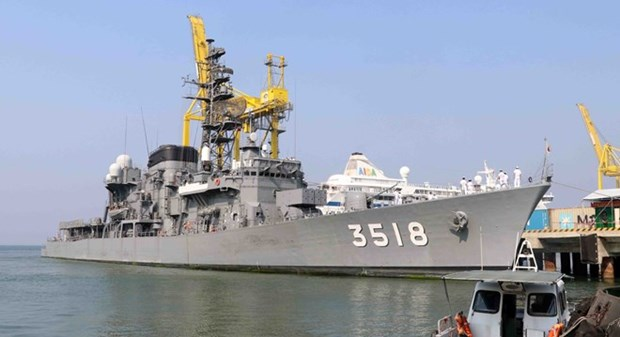 Visitan buques de la Fuerza Maritima de Autodefensa de Japon ciudad vietnamita de Da Nang hinh anh 1