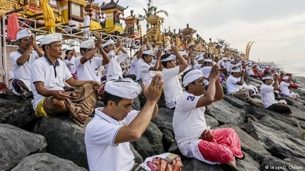 Celebran Dia del Silencio en isla indonesia de Bali hinh anh 1