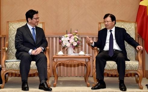 Gobierno de Vietnam crea entorno comercial favorable para inversores japones, afirma vicepremier hinh anh 1