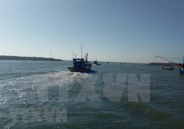 Rescatan a cinco pescadores vietnamitas tras naufragar su embarcacion hinh anh 1